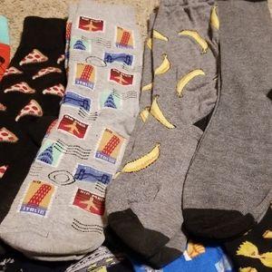 Multi Underwear & Socks - 13 pair novelty socks
